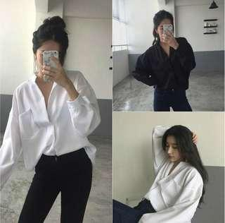 🌸PREORDER🌸 korean V neck blouse