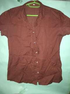 Office Blouse Brown