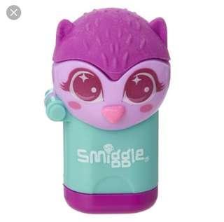Smiggle Sharpener Eraser Set Owl