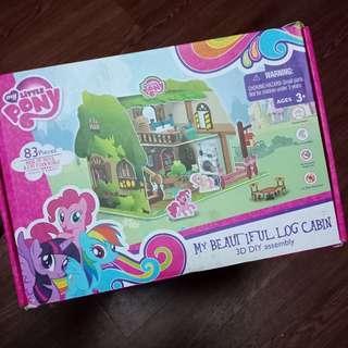 Little Pony 3D Puzzle Log Cabin