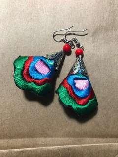 Nonya Embroidery Dangly Earrings