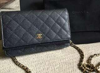 Chanel WOC Wallet On Chain Caviar GHW