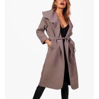 Boohoo - Shawl collar coat