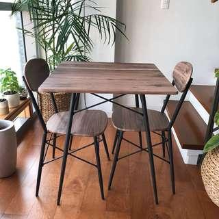 2 Seater Dining Set - Wood