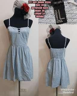 F21 soft denim dress