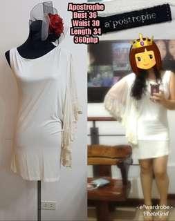 Apostrophe one sleeve dress