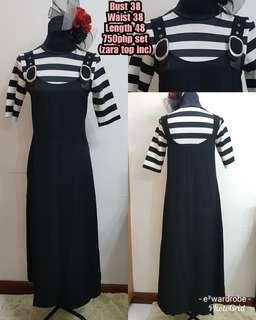 Zara top with auth lily jumper dress