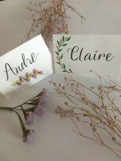 Handmade Place cards #OCT10