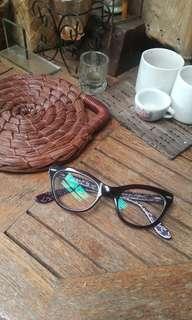 Purple Cateye Glasses Rayban Inspired