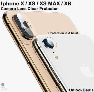🚚 Iphone XS Max / XS / XR Clear Camera Lens Glass Protector