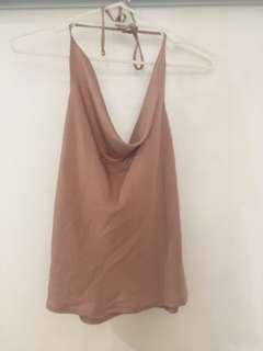 Cowl neck top size small
