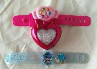 Batt op (1) Pretty Cure watches set sale for 2
