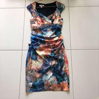 Beautiful ivy & Blu abstract print dress