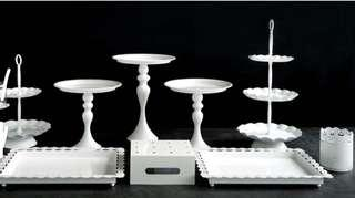 Brand New 12 pcs White Cake Stand AVAILABLE FOR PICK UP
