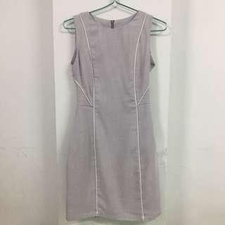 Grey Work Dress
