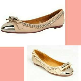 Authentic Jeffrey Campbell carrie flats beige free white easy soft sz 5