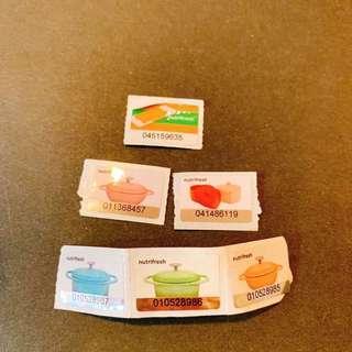 6個惠康印花 welcome stamps 6 pcs