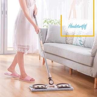🚚 85)Telescopic Washing Flat Mop(with 7 pcs clothes)