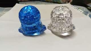 塑膠 水晶 海豹 擺設 冒險樂園