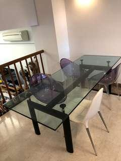 Le Corbusier LC6 Glass Dininf Table!