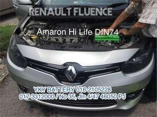Kereta Bateri Renault Fluence , Amaron Hi Life DIN74
