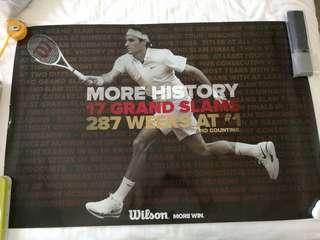 Poster Roger Federer - More History (imported USA size)