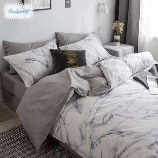 🚚 92)Nordic Bedsheet Set (Marble)