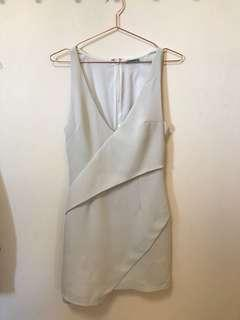Kookai dove grey origami dress size 38