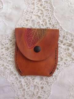 Vintage Leather Detailed Coin Purse