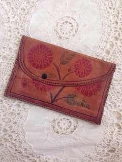 Vintage Leather Clutch Wallet