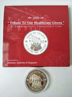 2003 Tribute to our Healthcare Givers $2 Commemorative Cupro-nickel Coin