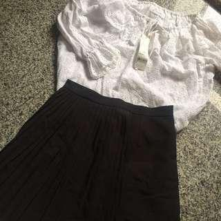 Queen Shop 百摺設計短裙