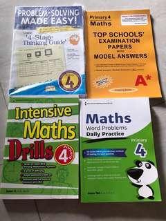 P4 Maths Assessment Books, each $6/-