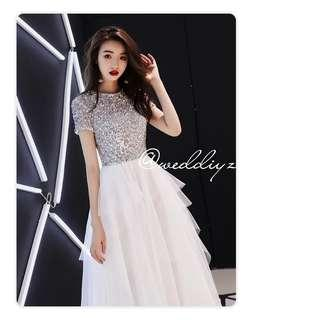 Wedding Simple Gown Photoshoot Dress Bling Gown Simple ROM