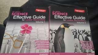 All about science effective guide for lower Secondary vol 1 & 2
