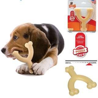 BRAND NEW MADE IN USA Nylabone Dura Chew Regular Original Flavoured Wishbone Dog Chew Toy