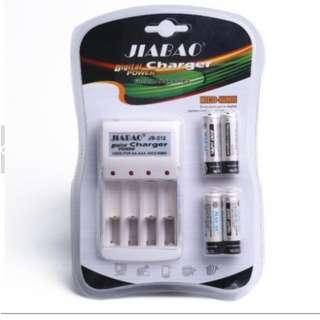 Jiabao JB-212 charger with rechargeable battery AA/AAA
