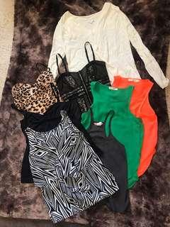 Assorted tops $3 each