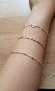 Set of 3 silver bracelets
