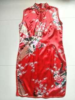 [BN] Silk Cheongsam Dress