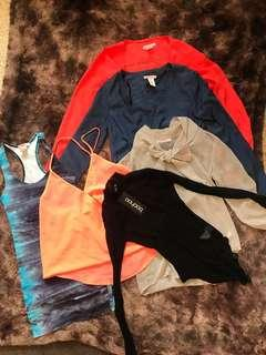 Assorted tops and bodysuits