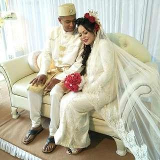 Bridal Lace Kurong Nikkah wear