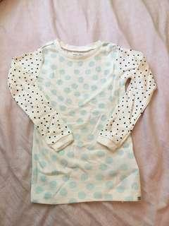 🚚 全新Baby Gap 點點長袖上衣T恤 4Y