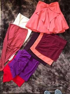 Assorted skirts size 6
