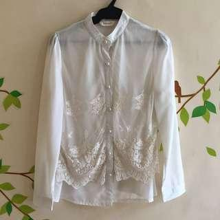 Mesh And Laces Office Shirt