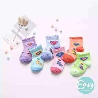 [ 6 Pairs ] Baby Infant Socks Newborn - 1 Years old