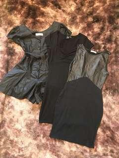 Assorted black dresses/playsuit