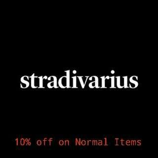 PO Stradivarius 10% discount off on Normal Items