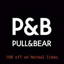 PO Pull & Bear 10% discount off on Normal Items
