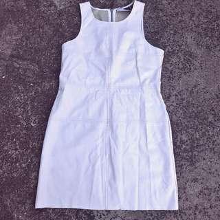 White leather Minkpink dress, size L/(10/12)